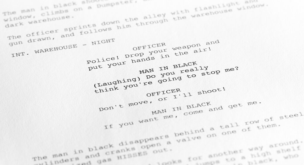 formatting voice over script
